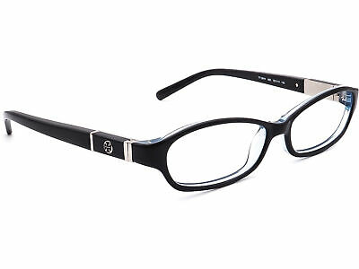 Tory Burch Women's Eyeglasses TY 2014 923 Black On Blue Oval Frame 52[]14 (2014 Eyeglasses)