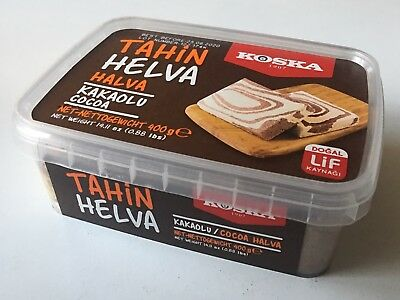 Halva with cocoa- Tahin Helva ( Koska ) Helwa - halawa - 400 g -Free UK post