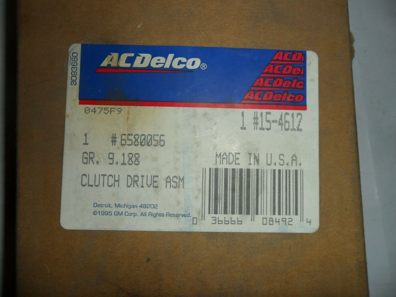 GM NOS ACDelco Air Conditioning Clutch BUY IT NOW OR BEST OFFER