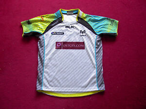 BLK Swansea Neath Ospreys Rugby Shirt/top/jersey/Boys/14 years
