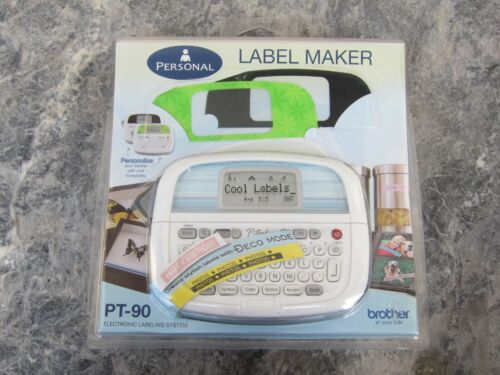 New! Sealed! Brother PT-90 P~Touch~Personal Label Maker New In Plastic
