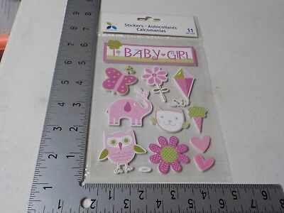 Momenta Baby Girl Elephant Owl Cat Flowers Kite Dimensional Stickers  A6384