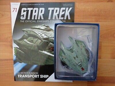 Usado, Star Trek Eaglemoss Naves Espaciales Colección #71 GOROTH'S Klingon Transporte comprar usado  Enviando para Brazil