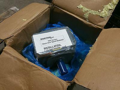 Boston Gear 738a-60-j Worm Gear Speed Reducer 601 Ratio Gear Box