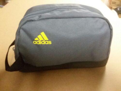 ADIDAS Travel Bag Zipper Tote Toiletry Cosmetics Black Makeu