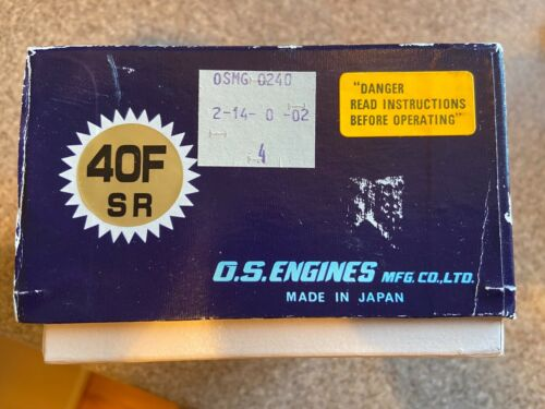 OS MAX 40F SR Model Airplane Engine Mint in Box NEVER RUN