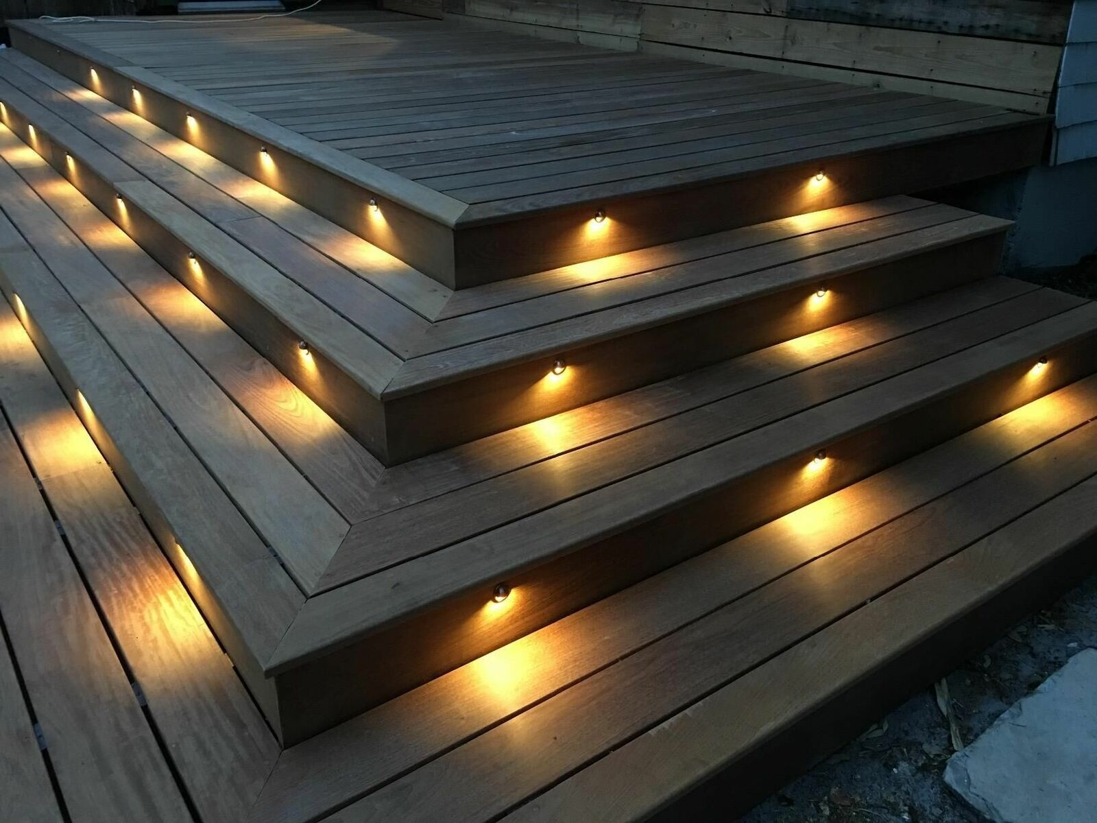 Stair Step Lighting. 6/10/20X35mm Warm White LED Deck Stair Step Fence