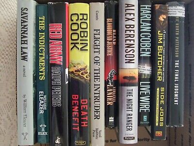 LOT OF 10 MYSTERY SUSPENSE THRILLER CRIME NOVELS BOOKS by Best Selling Authors
