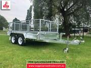 10x5 TANDEM TRAILER HOT DIP GALVANISED CAGE ATM 2000KG NEW WHEELS Rowville Knox Area Preview