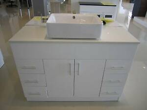 Clearance-1200mm Bathroom Vanity with Stone Top & Basin ONLY$899 Bentley Canning Area Preview