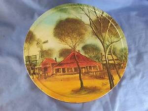 Vintage Arnotts Outback Series Large Round Biscuit Tin Newtown Geelong City Preview