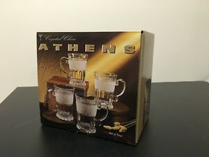 NEW Crystal Clear Athens Glass Set MADE IN JAPAN