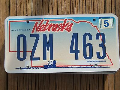 OZM 463 = 2008 Nebraska Covered Wagon license plate     $4.00 Shipping In The US