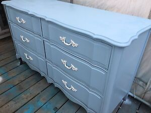Baby Blue 6 Drawer French Provincial - Negotiable