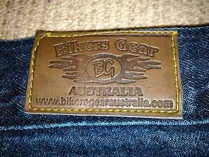 "Mens ""Bikers Gear"" Kevlar Motorcycle Jeans. Size 34. Belmont Lake Macquarie Area Preview"