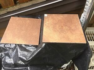 "12""x12"" tile brownish colour & textured surface"