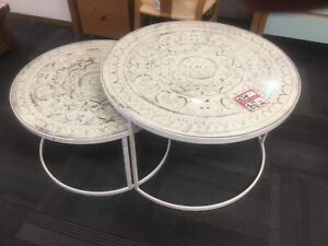 Nest of shabby chic coffee tables Manly Vale Manly Area Preview