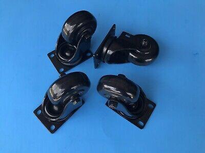 Qsc Ks118 Casters Set 4 - 4-piece Set Of Swiveling Metal Casters