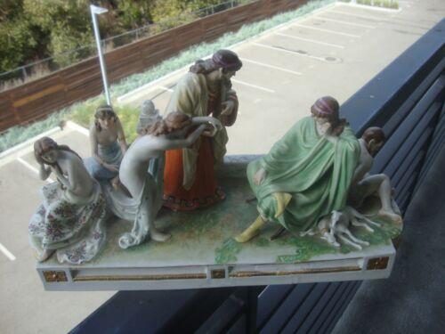 "Antique Meissen Germany Centerpiece   Porcelain Nude ""slave Market"" Figurine"