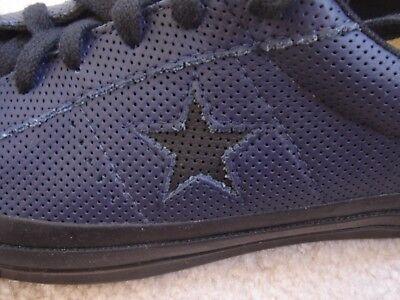 cbe0851fa3b NIB Converse One Star Ox Perforated Leather Blue Black US Mens 6.5