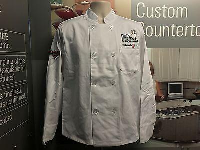 8 Button Chef Coat - Lot of 3 Brand New Unisex White 8-Button Chef Coat Jacket Long Sleeve Men Women