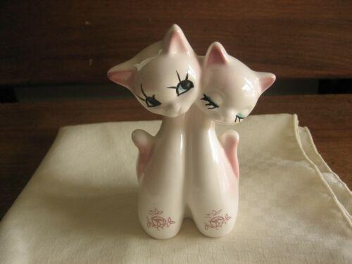 Vintage Ceramic Cats Planter Bud Vase Figurine Japan