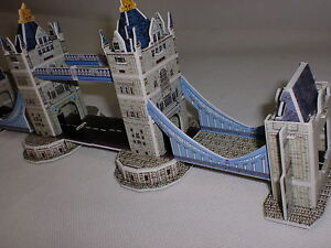 TOWER BRIDGE LONDON UK 3D PUZZLE 32 PCS WORLD'S GREAT ARCHITECTURE EDUCATIONAL