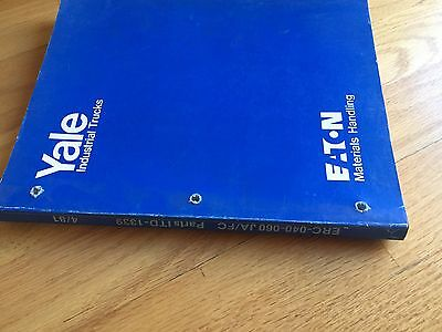 Yale Erc Ja Fc 040 060 Electric Forklift Parts Catalog Operation Manual Truck
