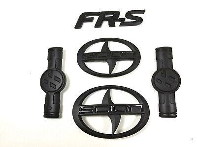 5X Matte Black Scion GT86 FR S Front Hood Rear Side Badge Emblem FRS FR 2011 16