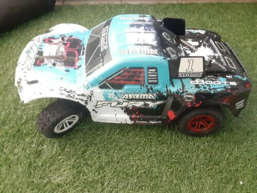 Arrma Fury Rc Short Course Truck Parts Truck UNTESTED  - $59.00