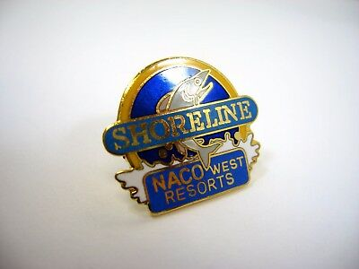 Vintage Collectible Pin  Shoreline Naco West Resorts Jumping Fish Design
