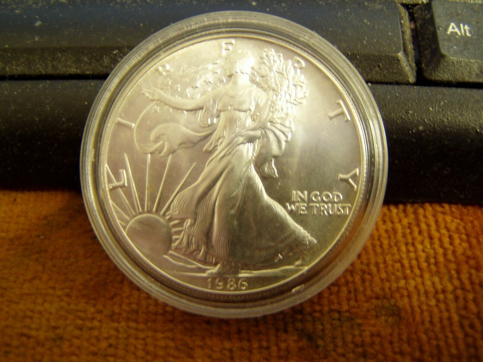 1986 American Silver Eagle,1oz .999 Silver,BU Condition - $45.00