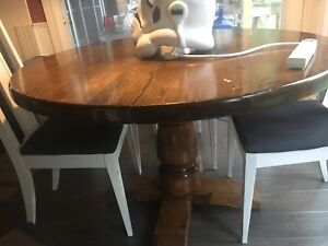 """48"""" Round Dining Table Solid Wood --moving"""
