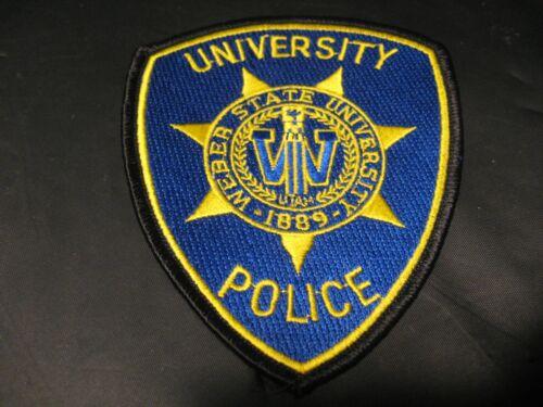 Vintage WEBER STATE UNIVERSITY 1889 POLICE Utah Law Enforcement Patch