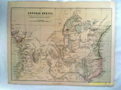 Antique Map. CENTRAL AFRICA. Undated. c1870. Pub'd Wm. Mackenzie. VG.