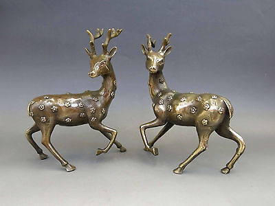 China's old handmade exquisite decorations lucky copper sculpture - deer