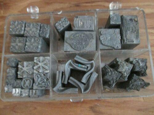 Dingbat Type Letterpress Ornamental Decorative Printing Blocks - Bag of $