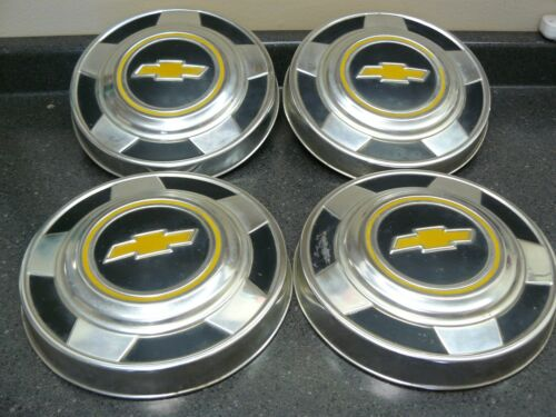 Set of Four Vintage Chevrolet Truck Dog Dish Hub Caps