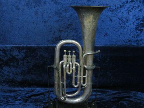 Vintage Cleveland Silver 3 Valve Euphonium Ser#C-25428 Good Sounding Horn