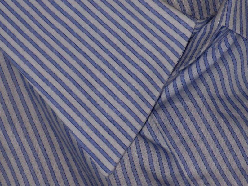 theory 100% Cotton Blue w/ Stripe Casual Dress Shirt Small