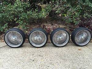 L.A 200 SPOKE WIRE WHEELS AND TYRES Kenmore Hills Brisbane North West Preview