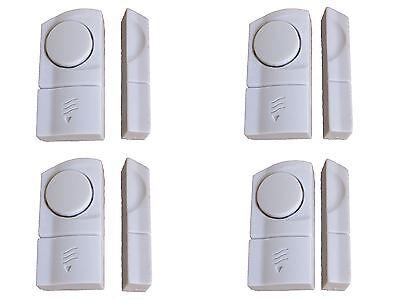 4 WINDOW & DOOR BURGLAR INTRUDER ALARMS ALARM WIRELESS SENSOR