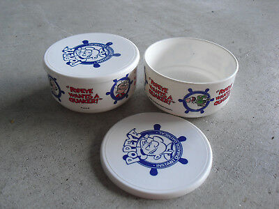 Lot of 2 Vintage 1990 Popeye Cartoon Plastic Quaker Oats Ceral Bowls for sale  Downingtown