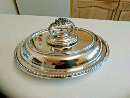 Antique Walker & Hall Oval Silver Plated Entree Dish & Lid (3324)