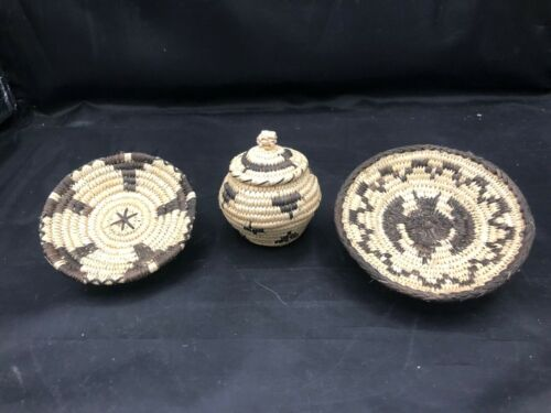 Vintage Miniature Papago Baskets