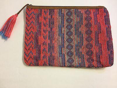 NEW WOVEN TRIBAL TASSEL MAKEUP COSMETICS PURSE CLUTCH BAG TRAVEL BOHO (Tribal Makeup)
