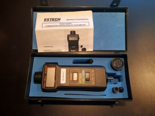 EXTECH Instruments COMBINATION CONTACT/PHOTO TACHOMETER Model 461895 with O. Box