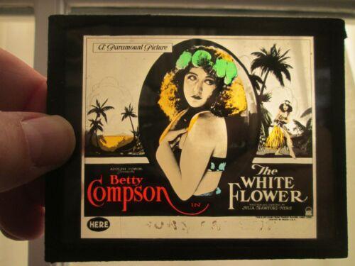 The White Flower - Original 1923   Movie Glass Slide - Betty Compson