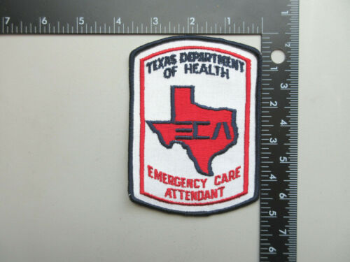 TEXAS DEPARTMENT OF HEALTH ECA EMERGENCY CARE ATTENDANT COLLECTIBLE PATCH