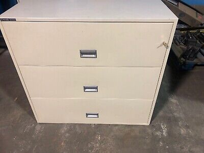 Schwab 5000 3 Drawer Lateral File Fireproof 43x20.5x41h
